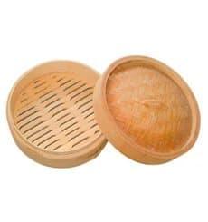 Bambusdämpfer mit Deckel Ø8x6cm (10 Stück)