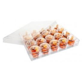Kit Plastiktablett Kapazität 20 plastikschale Runde (12 Einheit)