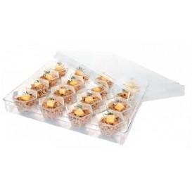 Kit Plastiktablett Kapazität 16 plastikschale Sechseckige (12 Einheit)