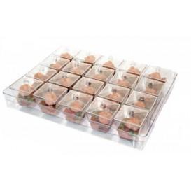 Kit Plastiktablett Kapazität 20 plastikschale Quadrat (12 Einheit)