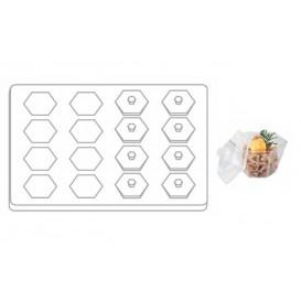 Kit Plastiktablett Kapazität 16 plastikschale Sechseckige (1 Einheit)
