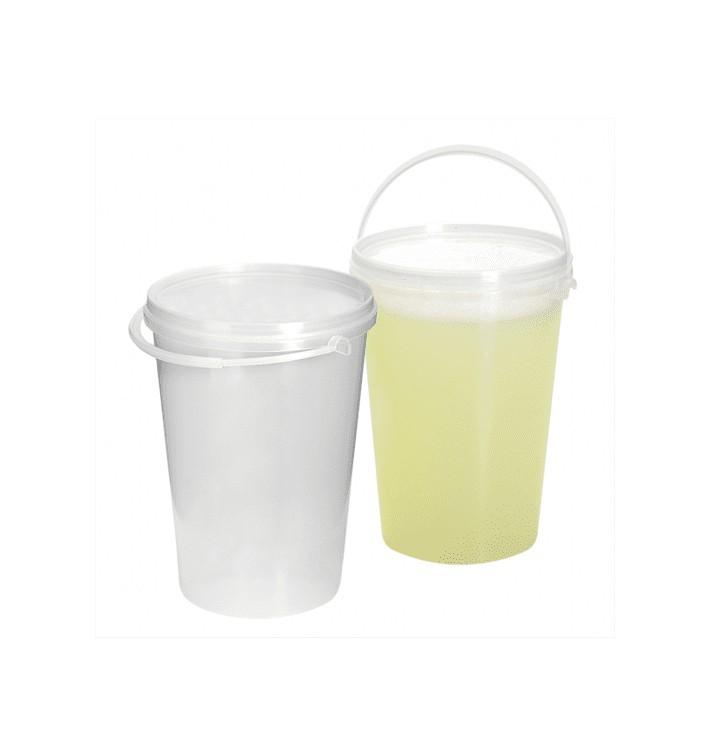 Plastikeimer Zylindrische PET Transparent 1000ml (10 Stück)