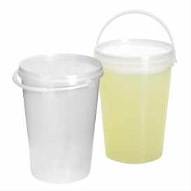Plastikeimer Zylindrische PET Transparent 1000ml (200 Stück)