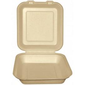 Burger-Box Zuckerrohr Natur 20x20x7,5cm (200 Stück)