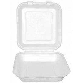 Burger-Box Weiß Zuckerrohr 20x20x7,5cm (200 Stück)
