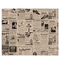 """Wachspapier fettdicht für Burger """"Zeitung"""" 28x34cm (1.000 Stück)"""