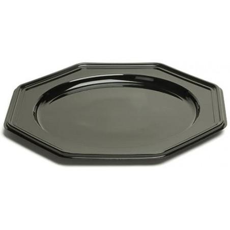 Platzteller achteckig schwarz 30cm (50 Stück)