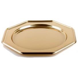 Platzteller achteckig Gold 30cm (5 Stück)