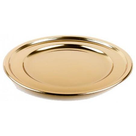 Plastikteller rund Gold 30cm (5 Stück)