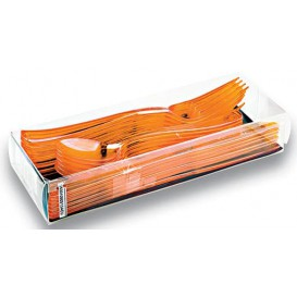 Besteckset Plastik 18-teilig orange (20 Sets)