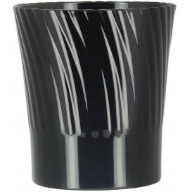 Plastikbecher Verkostung Schwarz 165ml (12 Stück)