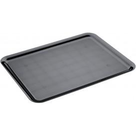 Plastiktablett Präsentation Tray Schwarz 37x50cm (4 Stück)