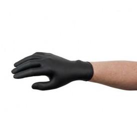 NitrilHandschuhe Puderfrei Schwarz Größe XL AQL 1.5 (100 Stück)