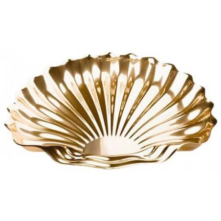 Plastiktablett Muschel Gold 34x30cm (50 Stück)