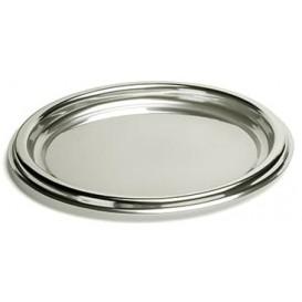 Servierplatte rund Silber 30cm (5 Stück)