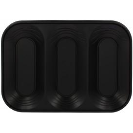 "Plastiktablett PP ""X-Table"" Schwarz 3C 330x230mm (30 Stück)"