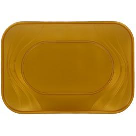"Plastiktablett PP ""X-Table"" Gold 330x230mm (60 Stück)"