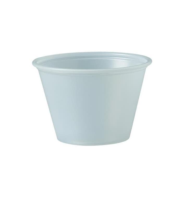 Dressingbecher Plastik PS für Soβen 75ml Ø62mm (250 Stück)