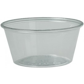 Dressingbecher Plastik PET für Soβen 100ml Ø74mm (250 Stück)