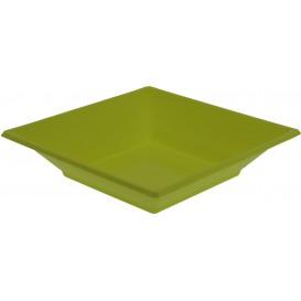 Viereckiger Plastikteller Tief Pistazie 170mm (300 Stück)