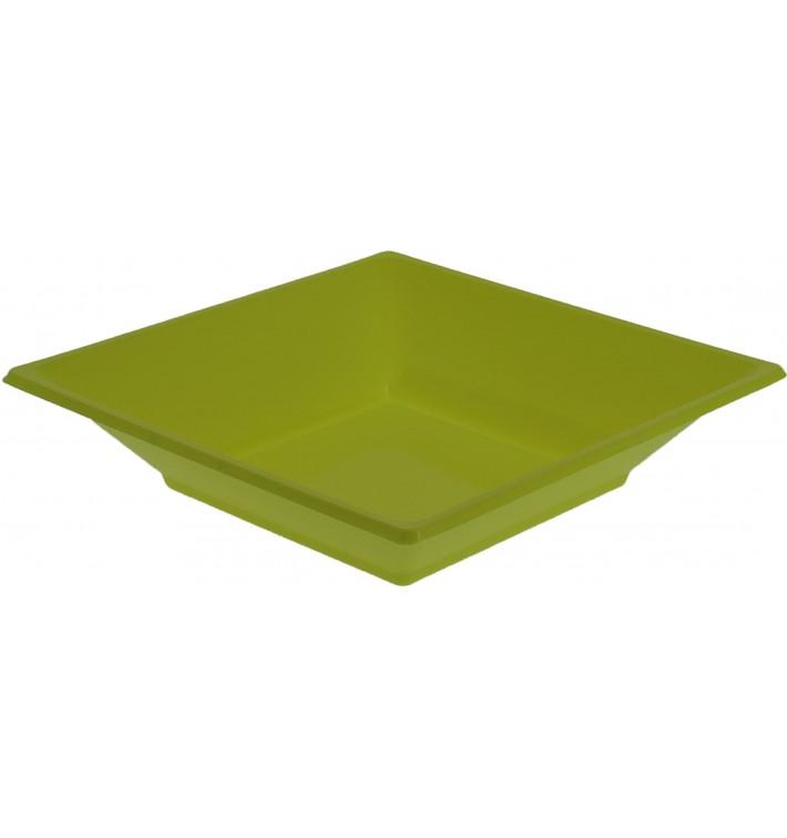 Viereckiger Plastikteller Tief Pistazie 170mm (25 Stück)