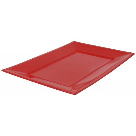 Plastiktablett Rot 330x225mm (3 Stück)