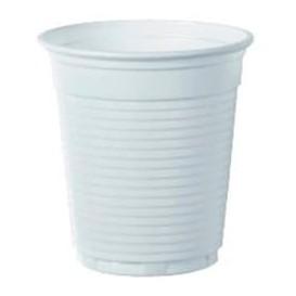 Plastikbecher Weiß zweifarbig 166ml (100 Stück)
