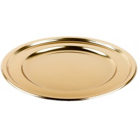 Plastikteller PET Rund Gold Ø18cm (6 Stück)
