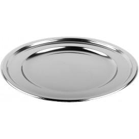 Plastikteller PET Rund Silber Ø18cm (6 Stück)