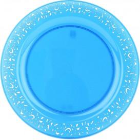 "Plastikteller rund extra Stark ""Mandala"" Türkis 19cm (88 Stück)"