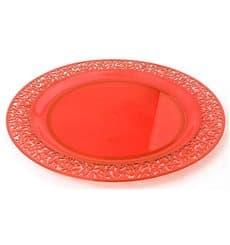"""Plastikteller rund extra hart """"Lace"""" Orange 19cm (4 Stück)"""