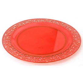 "Plastikteller rund extra Stark ""Mandala"" Orange 23cm (88 Stück)"