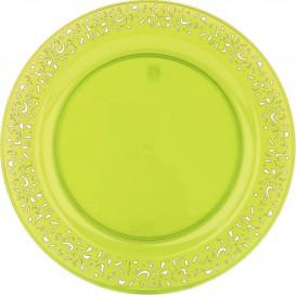 "Plastikteller rund extra Stark ""Mandala"" Grün 19cm (4 Stück)"