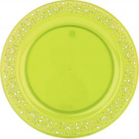 "Plastikteller rund extra Stark ""Mandala"" Grün 19cm (88 Stück)"