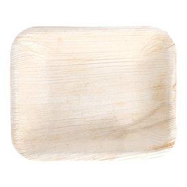 Palmblatttablett Rechteckig 16x12,5x3cm (25 Stück)