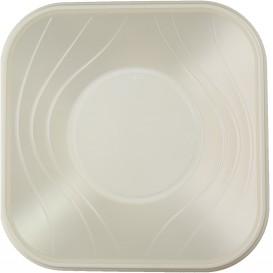 "Viereckige Plastikschale PP ""X-Table"" Perle 180x180mm (120 Stück)"