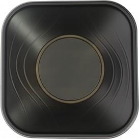 """Viereckige Plastikschale PP """"X-Table"""" Schwarz 180x180mm (120 Stück)"""