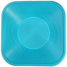 """Viereckige Plastikschale PP """"X-Table"""" Türkis 180x180mm (8 Stück)"""