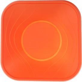 """Viereckige Plastikschale PP """"X-Table"""" Orange 180x180mm (8 Stück)"""