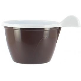 Plastiktasse PS Schokoladenbraun 100 ml (480 Stück)