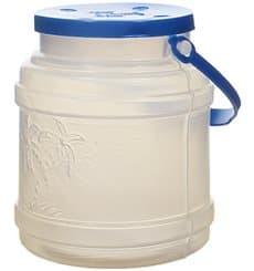 Milchkanne aus Plastik mit Henkel und Deckel Trans. lichtdurchlässig 500ml (10 Stück)