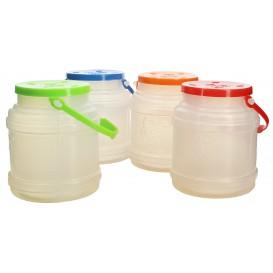 Plastikflasche mit Henkel Trans. lichtdurchlässig 500ml (10 Stück)