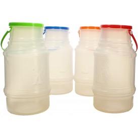 Plastikflaschen mit Henkel Trans. lichtdurchlässig 1000ml (50 Stück)
