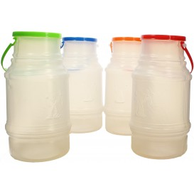 Plastikflaschen mit Henkel Trans. lichtdurchlässig 1000ml (10 Stück)