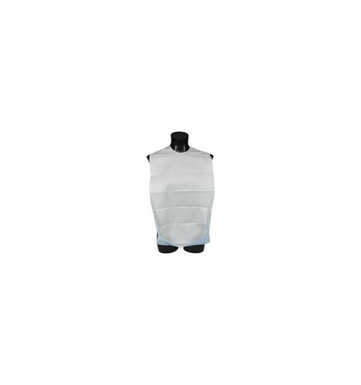Lätzchen für Erwachsene mit Tasche weiß ökologisch (125 Stük)