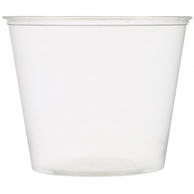Dressingbecher Plastik PET für Soβen 165ml Ø74mm (2500 Stück)