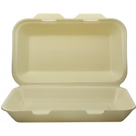 Verpackung LunchBox Styropor Champagner 240x155x70mm (125 Stück)