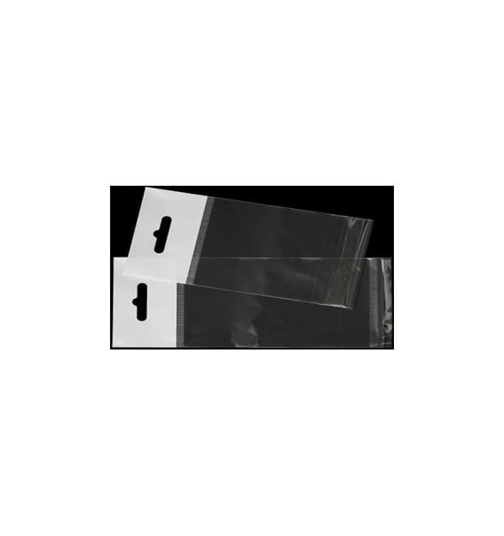Flachbeutel BOPP Falte Klebstoff mit Euro-Loch 10x15cm G160 (1000 Stück)