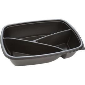 Plastikbehälter rechteckig schwarz 3G 23x17x5cm (75 Stück)