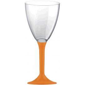Glas aus Plastik für Wein oranger Fuß 180ml 2T (20 Stück)